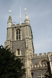 A view of Croydon Parish Church (on the site of The Old Palace)